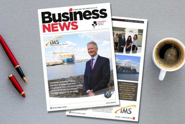 october ims aeo 600x403 - IMS Freight are featured in the Hampshire business news