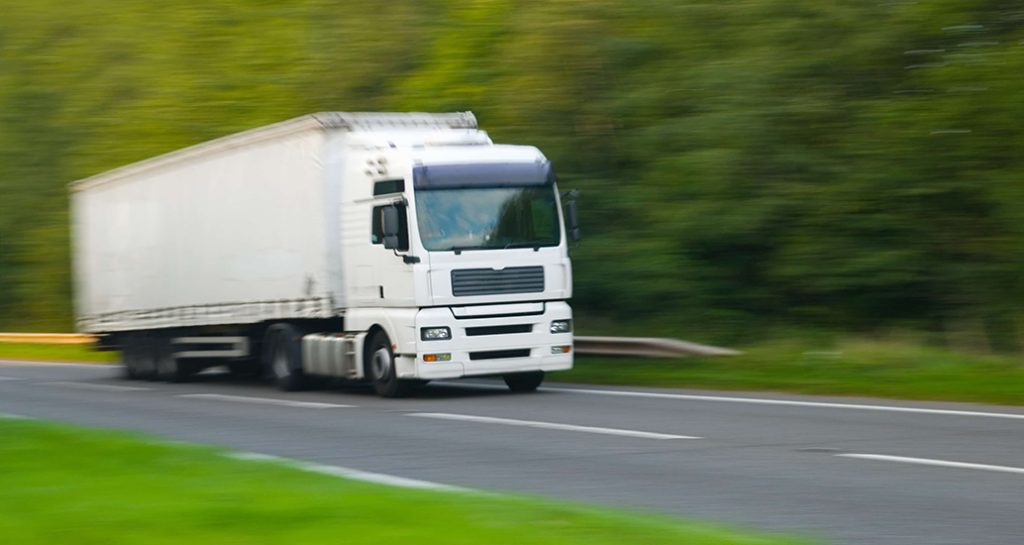 White HGV on Road - HGV Charging in Southampton
